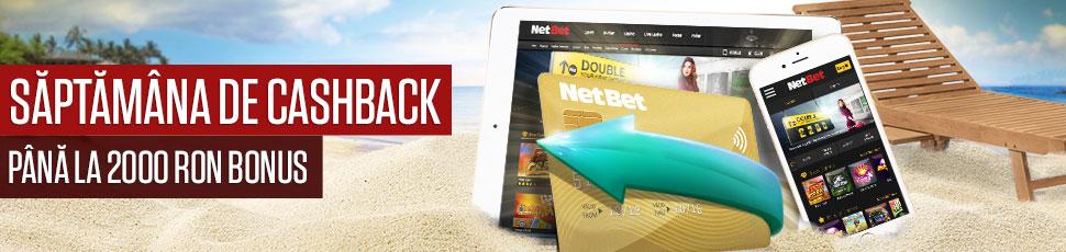 Cashback de pana la 2.000 de lei de la NetBet!