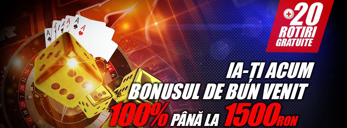 Bonus de bun venit de 100% pana la 1500 RON la Winmasters