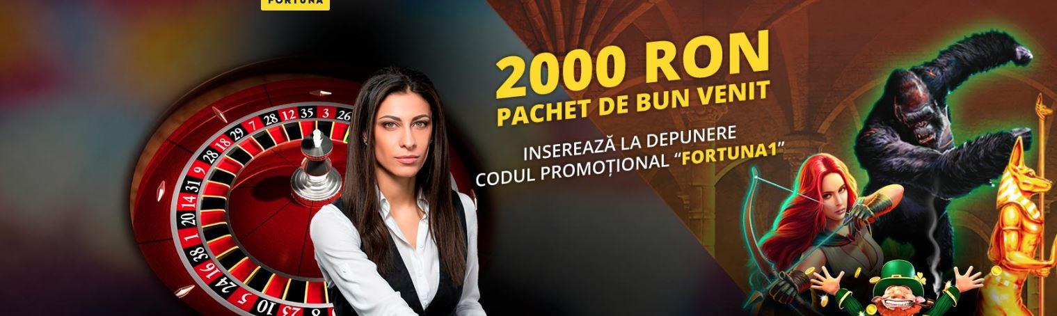 2000 lei Bonus de la eFortuna la inscriere