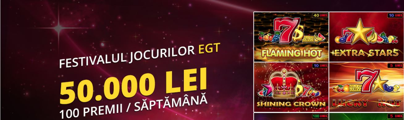 Festivalul jocurilor EGT la eFortuna