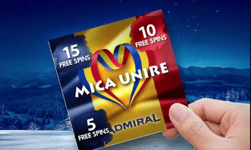 Rotiri gratuite de la Admiral Casino cu ocazia Micii Uniri