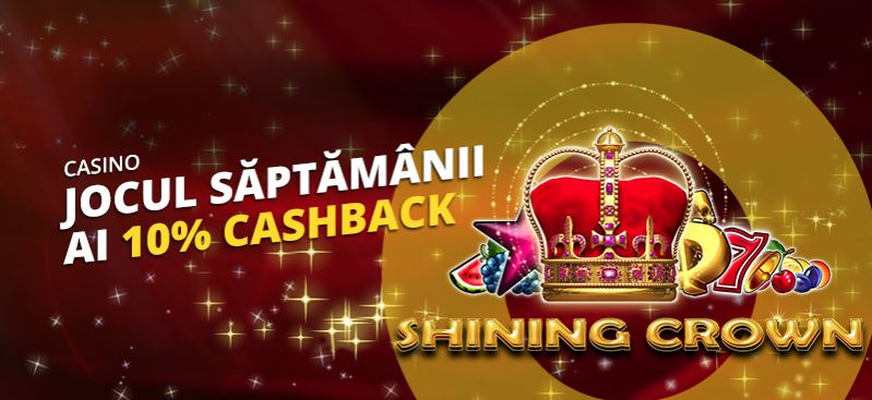 10% cashback la Shining Crown – eFortuna