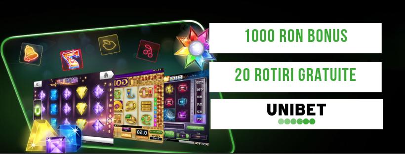 20 rotiri gratuite si 1000 RON de la Unibet pentru jucatorii noi