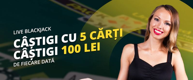 Live Blackjack eFortuna: Castiga 100 lei de fiecare data