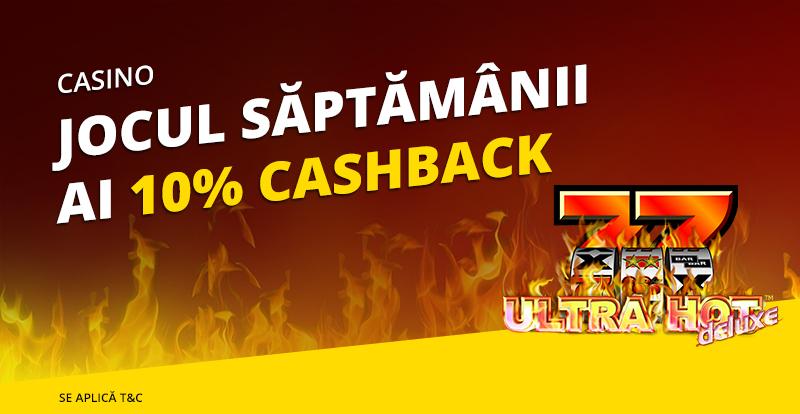 10% cashback la Ultra-Hot Deluxe de la eFortuna