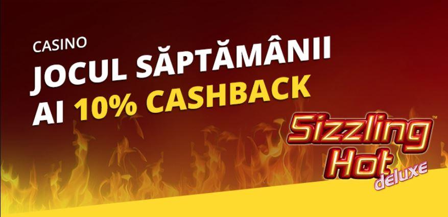 eFortuna ofera 10% cashback la Sizzling Hot Deluxe