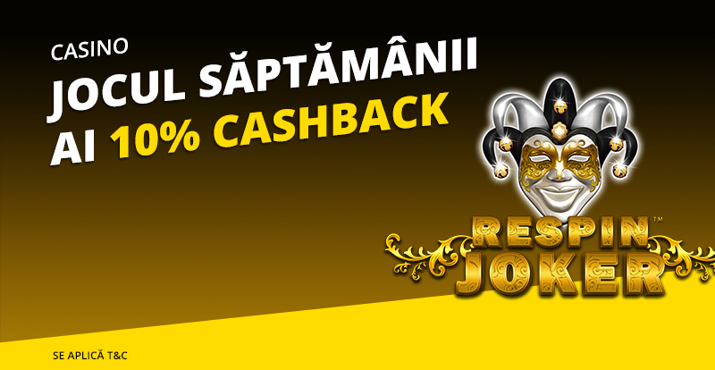 10% cashback la Respin Joker de la eFortuna