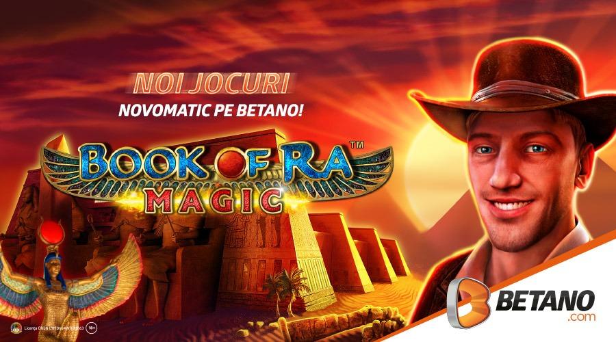 Book of Ra Magic și alte jocuri Novomatic sunt acum disponibile la Betano