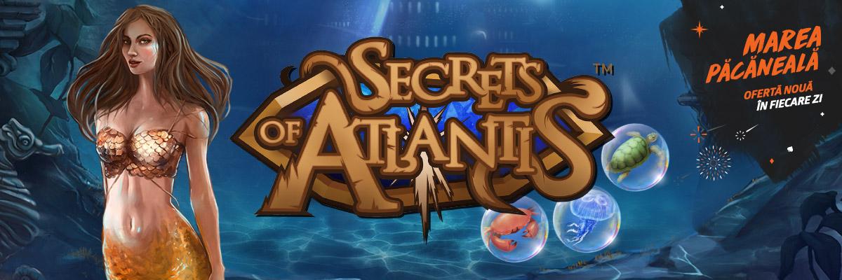 😎 Doar azi: 10 rotiri gratuite la Secret of Atlantis!