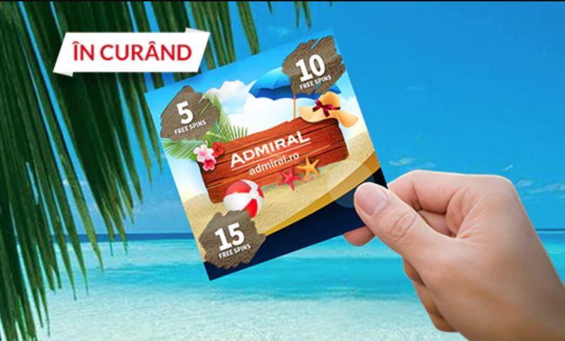 Castiga free spins in fiecare zi de la Admiral Casino