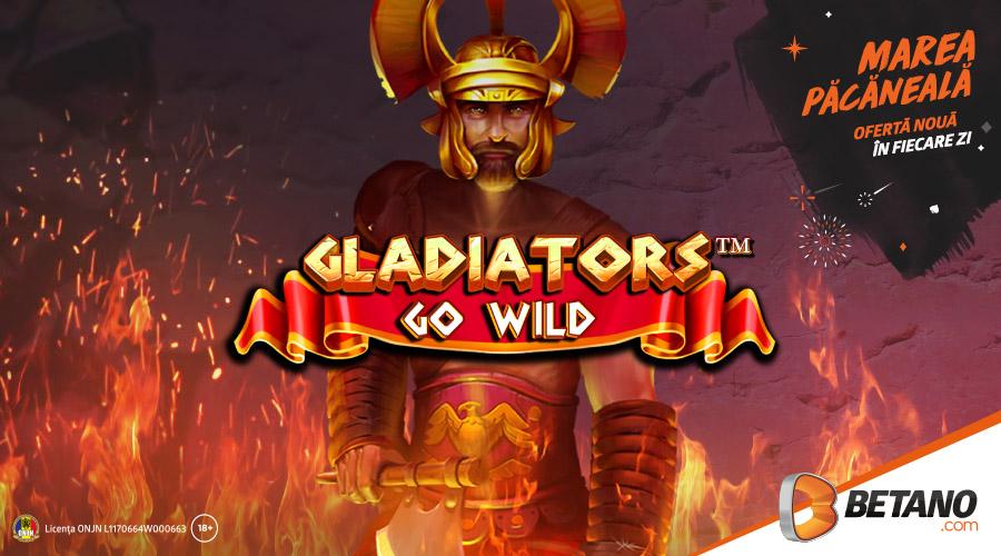 ? Doar azi: 20 rotiri gratuite la Gladiators go Wild!