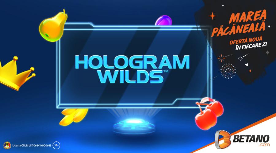 ⚡ Doar azi: 20 rotiri gratuite la Hologram Wilds!