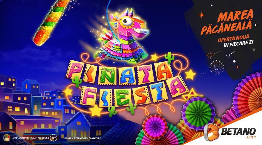 🍉 Doar azi: 15 rotiri gratuite la Pinata Fiesta!