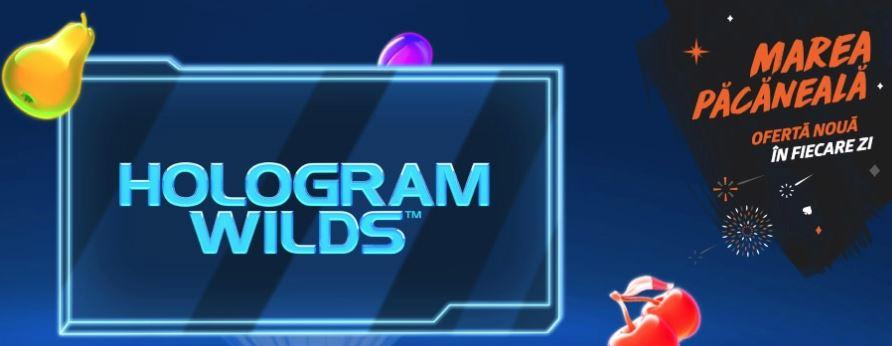 🌈 Doar azi: 5 rotiri gratuite la Hologram Wilds!