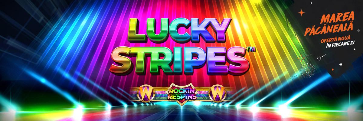 ✌ Doar azi: 5 rotiri gratuite la Lucky Stripes!