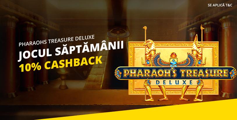 10% cashback la Pharaohs Treasure Deluxe de la eFortuna