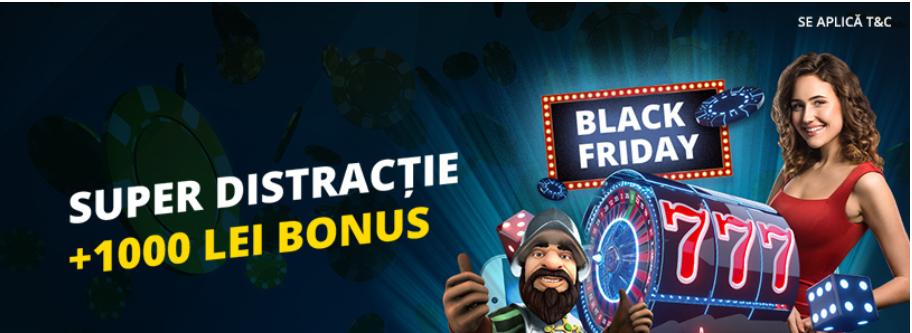 Pana la 1.000 RON bonus de la eFortuna de Black Friday