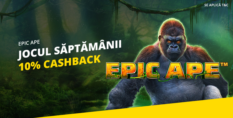 10% cashback la Epic Ape Deluxe de la eFortuna