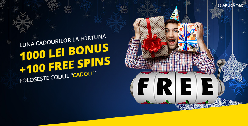 1000 lei Bonus + 100 Free Spins de Craciun de la eFortuna
